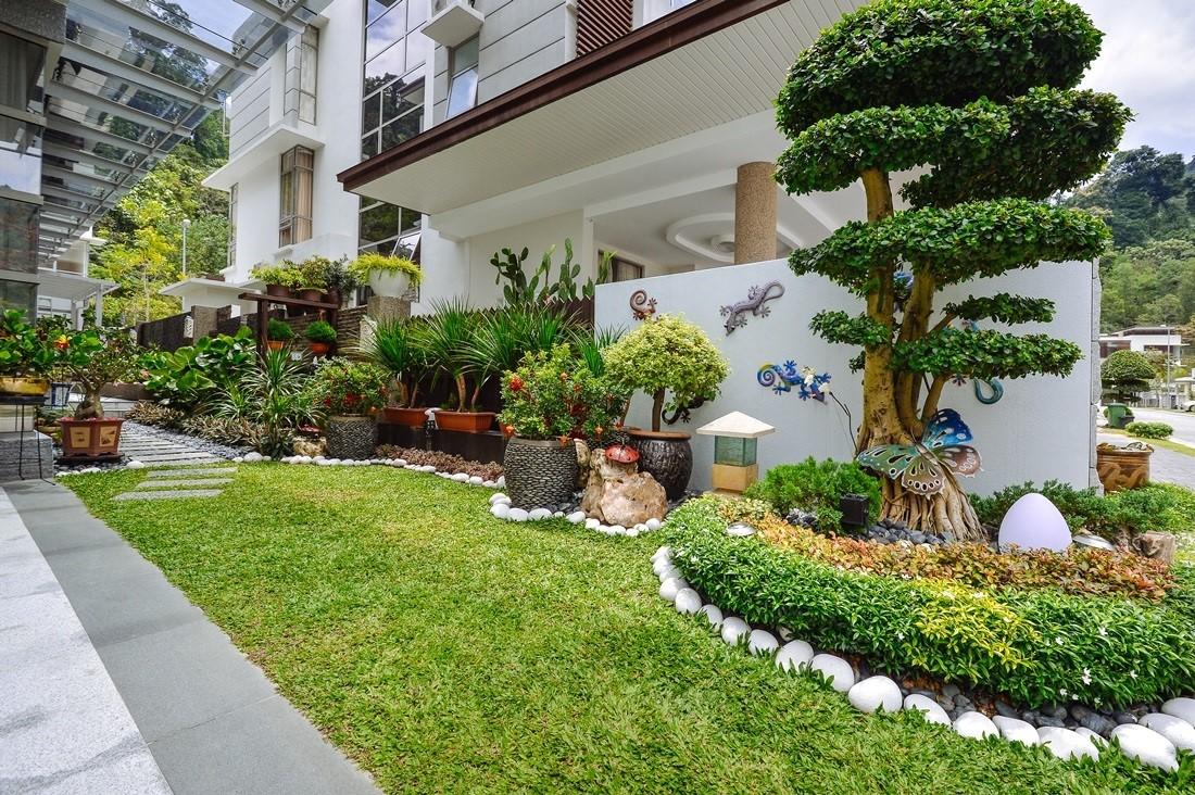 Landscaping design for landed houses for Create a landscape design